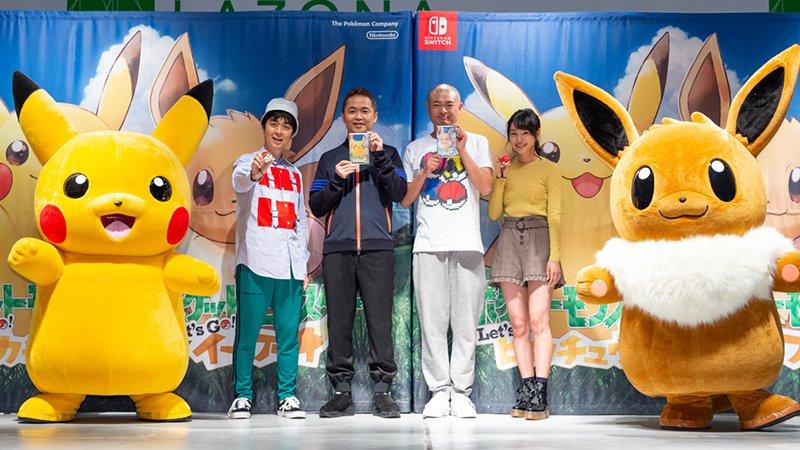 Pokémon Let's go Pikachu vendas no japão